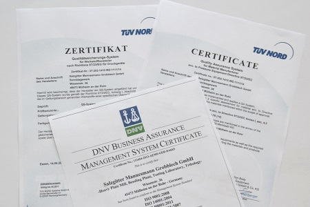 Certificates & approvals